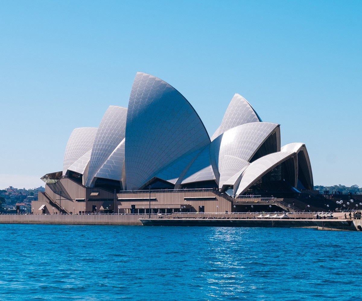Sydney Opera House located in Sydney, New South Wales, Australia. Lotus Building Australia - Best Immigration and Visa Consultants for Australia and Canada in Pune