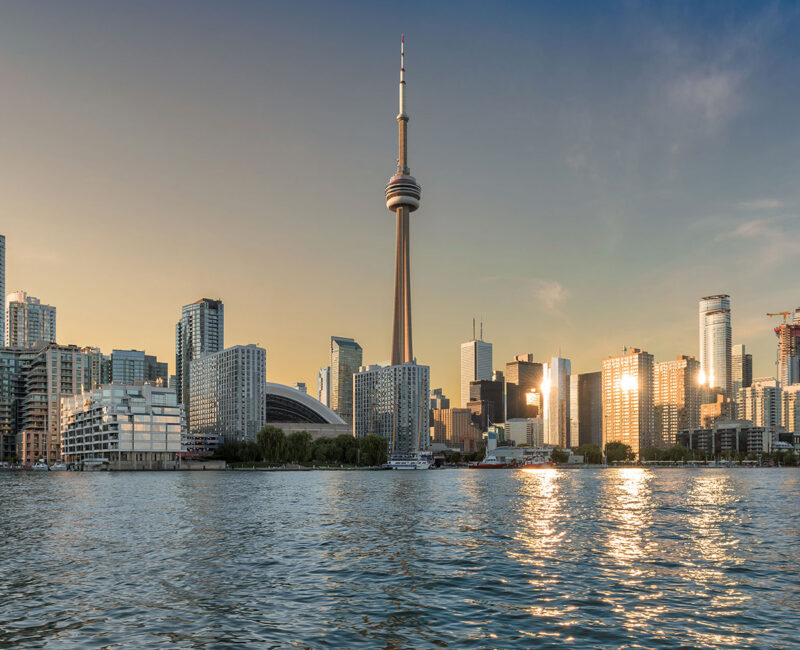 The CN Tower located in the downtown core of Toronto, Ontario, Canada. - Best Immigration and Visa Consultants for Australia and Canada in Pune