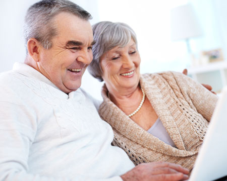 Old age couple with smiley faces are searching the parents visa- Best Visa Counsultant Services in India